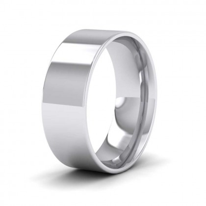 925 Sterling Silver 7mm Flat Shape (Comfort Fit) Classic Weight Wedding Ring