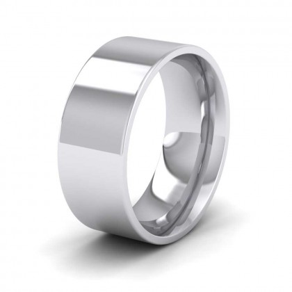 925 Sterling Silver 8mm Flat Shape (Comfort Fit) Extra Heavy Weight Wedding Ring