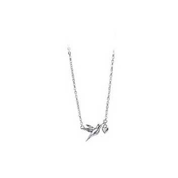 925 Sterling Silver Hummingbird Chain Necklace