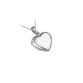 925 Sterling Silver Heart Locket Pendant and Chain