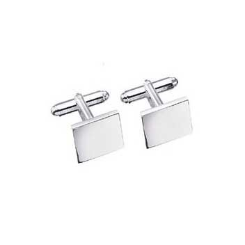 925 Sterling Silver Plain Cufflinks