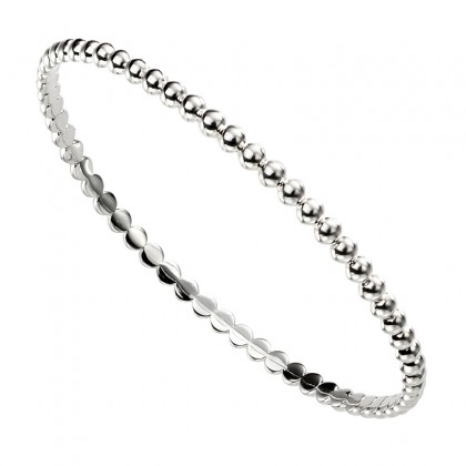 Sterling Silver Bead Design Bangle.