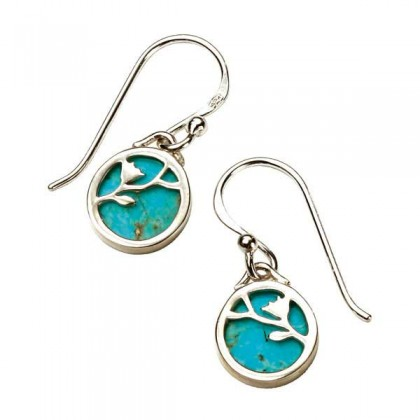 Sterling Silver Turquoise Set Earrings