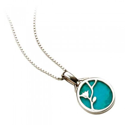 Sterling Silver Turquoise Set Pendant