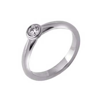 950 Platinum Brilliant Cut Diamond Quarter Carat Solitaire Ring