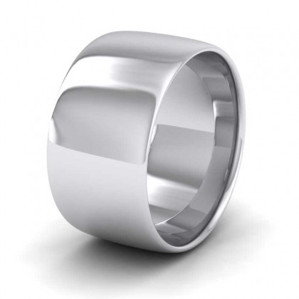 950 Platinum 10mm Cushion Court Shape (Comfort Fit) Classic Weight Wedding Ring