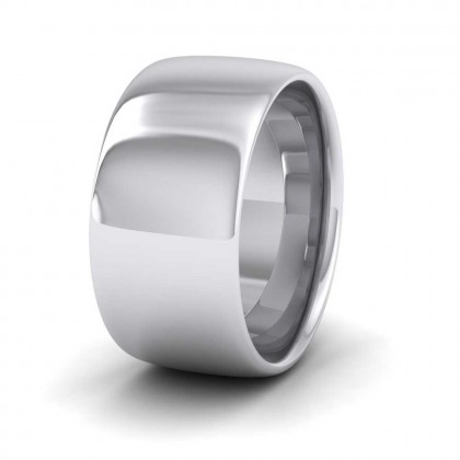 950 Platinum 10mm Cushion Court Shape (Comfort Fit) Extra Heavy Weight Wedding Ring