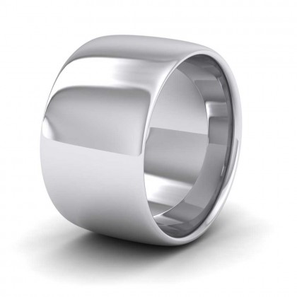 950 Platinum 12mm Cushion Court Shape (Comfort Fit) Extra Heavy Weight Wedding Ring