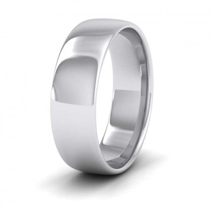 950 Platinum 6mm Cushion Court Shape (Comfort Fit) Classic Weight Wedding Ring