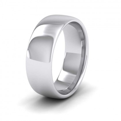 950 Platinum 7mm Cushion Court Shape (Comfort Fit) Extra Heavy Weight Wedding Ring