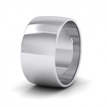 950 Platinum 10mm 'D' Shape Classic Weight Wedding Ring