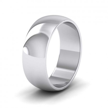 950 Platinum 7mm 'D' Shape Extra Heavy Weight Wedding Ring