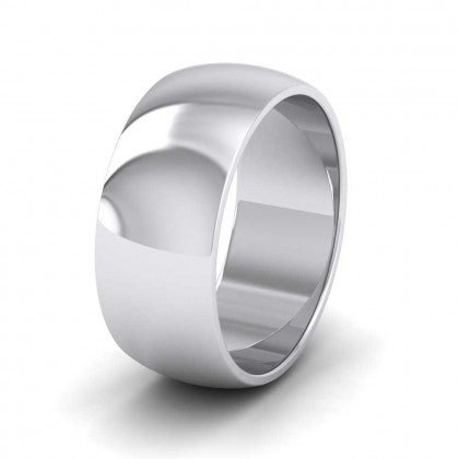 950 Platinum 8mm 'D' Shape Extra Heavy Weight Wedding Ring