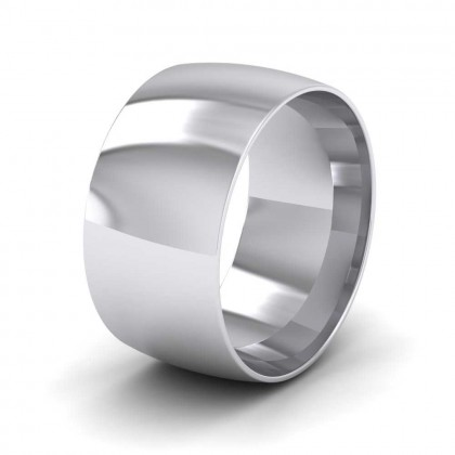950 Platinum 10mm Court Shape (Comfort Fit) Classic Weight Wedding Ring