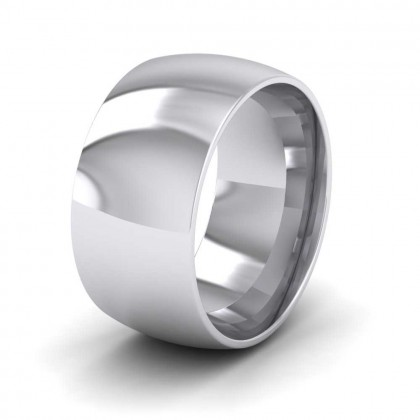 950 Platinum 10mm Court Shape (Comfort Fit) Extra Heavy Weight Wedding Ring