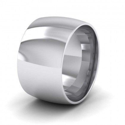950 Platinum 12mm Court Shape (Comfort Fit) Extra Heavy Weight Wedding Ring