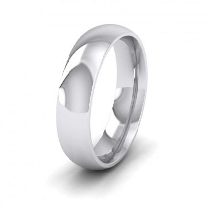 950 Platinum 5mm Court Shape (Comfort Fit) Extra Heavy Weight Wedding Ring