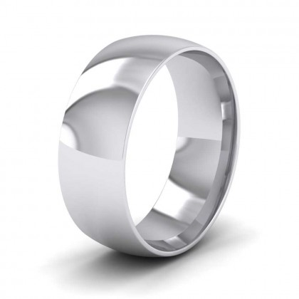 950 Platinum 7mm Court Shape (Comfort Fit) Classic Weight Wedding Ring