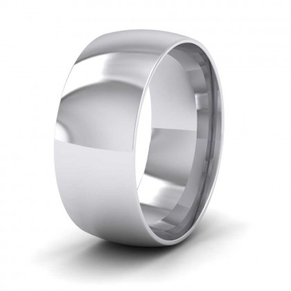 950 Platinum 8mm Court Shape (Comfort Fit) Classic Weight Wedding Ring