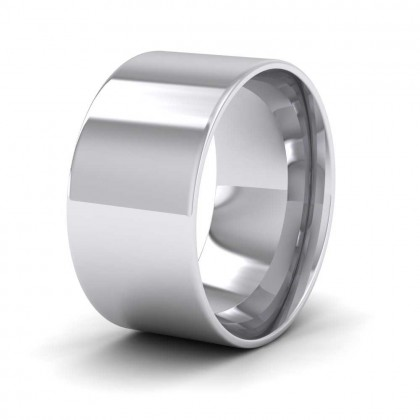 950 Platinum 10mm Flat Shape (Comfort Fit) Classic Weight Wedding Ring