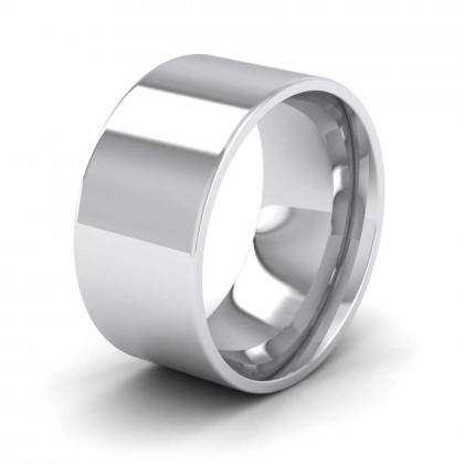 950 Platinum 10mm Flat Shape (Comfort Fit) Extra Heavy Weight Wedding Ring