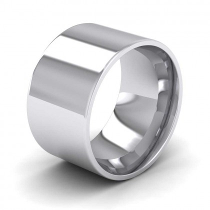 950 Platinum 12mm Flat Shape (Comfort Fit) Extra Heavy Weight Wedding Ring