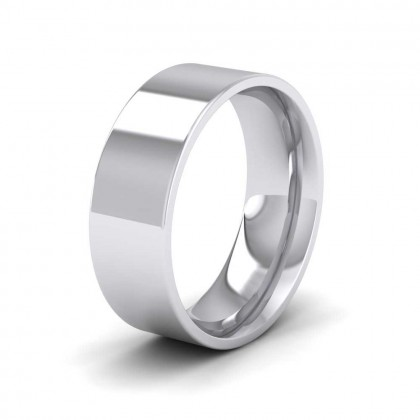 950 Platinum 7mm Flat Shape (Comfort Fit) Extra Heavy Weight Wedding Ring