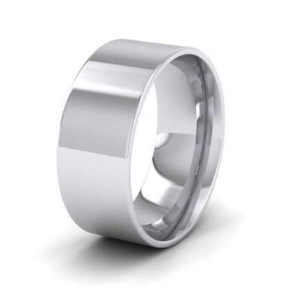 950 Platinum 8mm Flat Shape (Comfort Fit) Classic Weight Wedding Ring