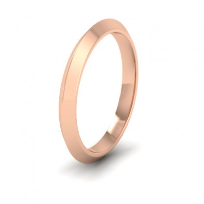Knife Edge Shape 9ct Rose Gold 2.5mm Wedding Ring
