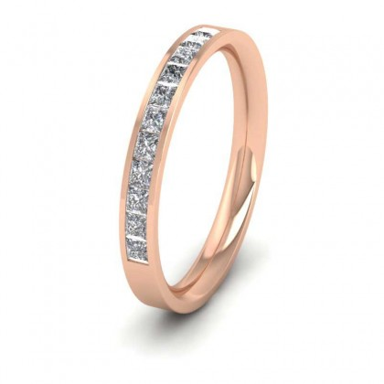 Channel Set Diamond 9ct Rose Gold 2.5mm Wedding Ring