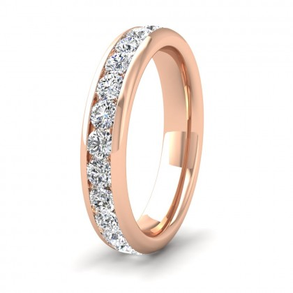Full Channel Set 1.56ct Round Brilliant Cut Diamond 18ct Rose Gold 4mm Ring