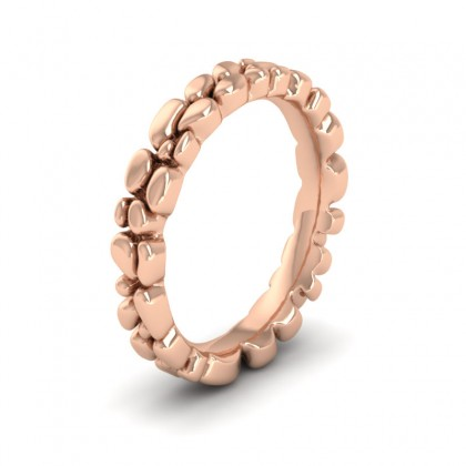 Pebbles 9ct Rose Gold 3.5mm Wedding Ring