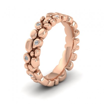 Pebbles 9ct Rose Gold 5mm Wedding Ring