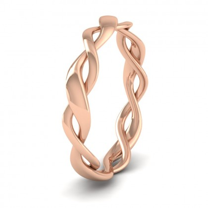 Double Weave 9ct Rose Gold 3.5mm Wedding Ring