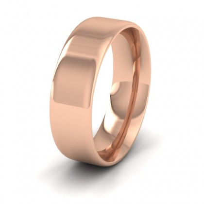 Rounded Edge 9ct Rose Gold 7mm Wedding Ring