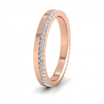 Assymetric Full Claw Set Diamond Ring (0.46ct) In 9ct Rose Gold