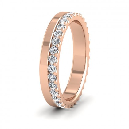 Assymetric Full Claw Set Diamond Ring (0.64ct) In 9ct Rose Gold