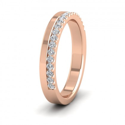 Assymetric Half Claw Set Diamond Ring (0.25ct) In 9ct Rose Gold