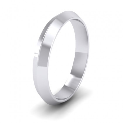 Knife Edge Shape 950 Platinum 4mm Wedding Ring