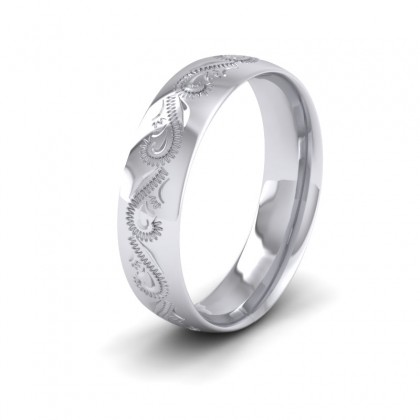 Engraved Sterling Silver 6mm Wedding Ring