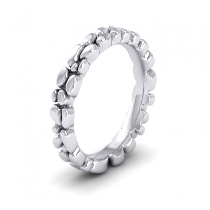 Pebbles 950 Platinum 3.5mm Wedding Ring