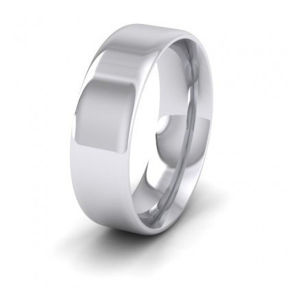 Rounded Edge Sterling Silver 7mm Wedding Ring