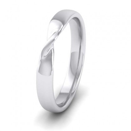 Twist 9ct White Gold 3mm Wedding Ring