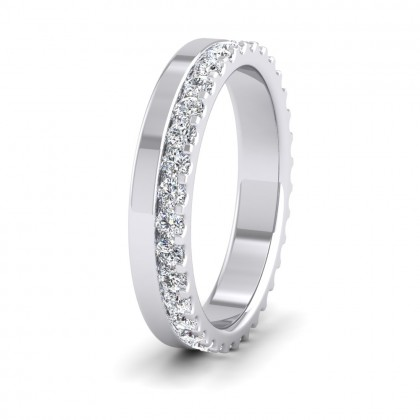 Assymetric Full Claw Set Diamond Ring (0.64ct) In 950 Palladium