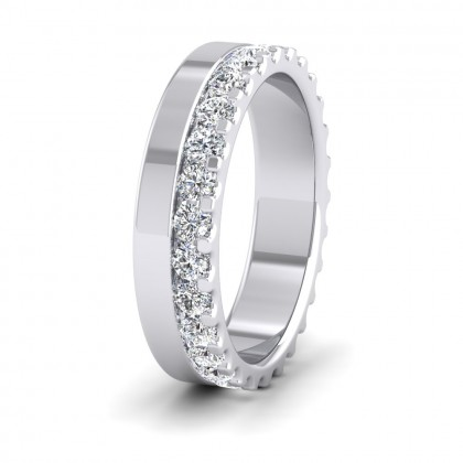 Assymetric Full Claw Set Diamond Ring (0.98ct) In 950 Platinum