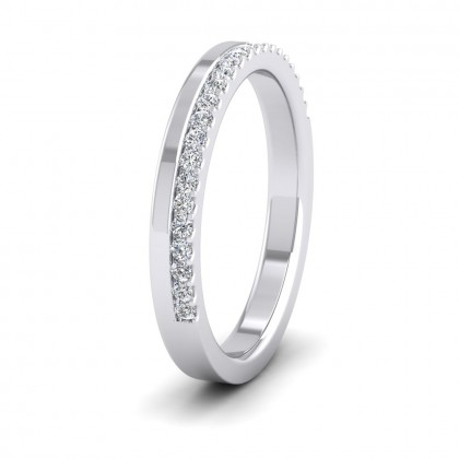 Assymetric Half Claw Set Diamond Ring (0.23ct) In 9ct White Gold