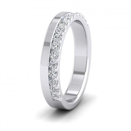Assymetric Half Claw Set Diamond Ring (0.34ct) In 950 Palladium