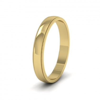 Millgrained Edge 9ct Yellow Gold 3mm Wedding Ring