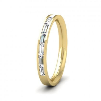 Channel Set Baguette Diamond 18ct Yellow Gold 2.5mm Ring