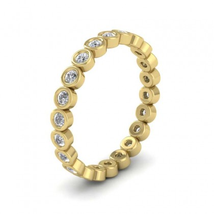 Full Set Diamond Ring In 9ct Yellow Gold 2.5mm Wide